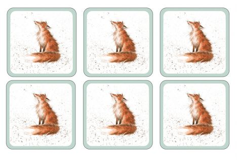Wrendale Table Coaster Set of Eight - Fox