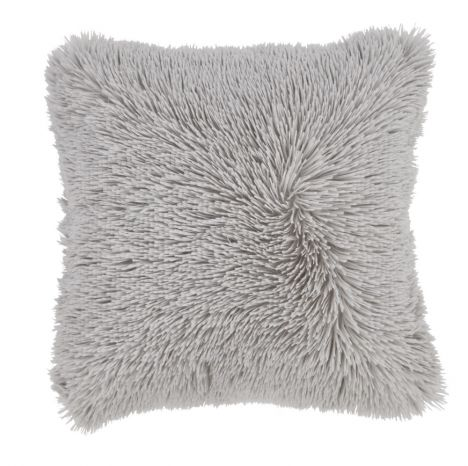 Catherine Lansfield Cuddly Fluffy Cushion Cover - Silver Grey