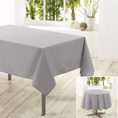 Essentiel Plain Tablecloth - Silver Grey