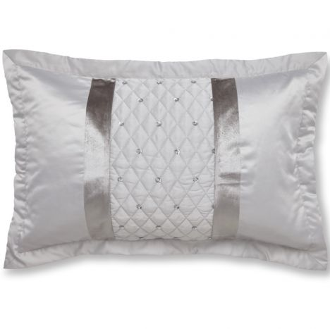 Catherine Lansfield Sequin Cluster Pillowsham Pair - Silver Grey