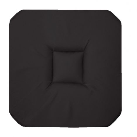 Panama Plain Set of 4 Seat Pads with 4 Flaps - Black
