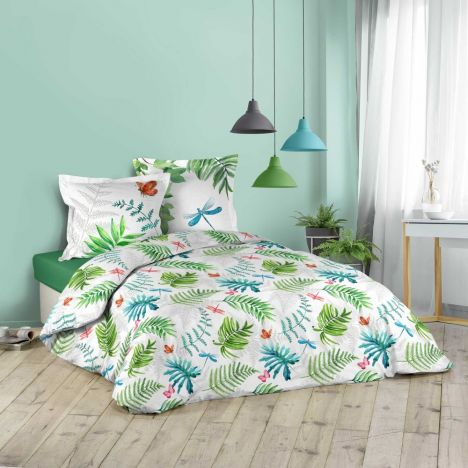 Artistica Floral Butterfly Duvet Cover Set - Multi: King