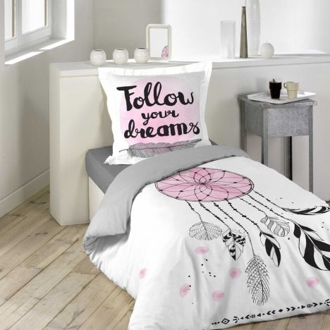 Attrape Songes Follow Your Dreams Duvet Cover - Pink Multi: Single