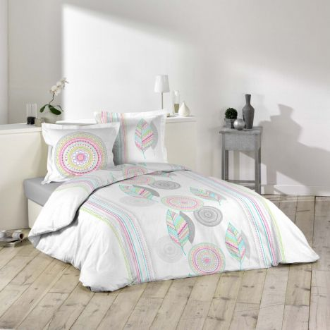 Bolivia Geometric Duvet Cover Set - Multi: King