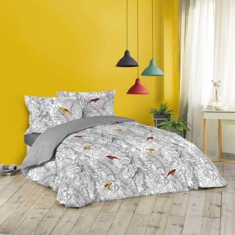 Calaos Floral Birds Duvet Cover Sets - Multi: King