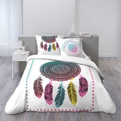 Cherokee Ethnic Geometric Duvet Cover Set - Multi: King