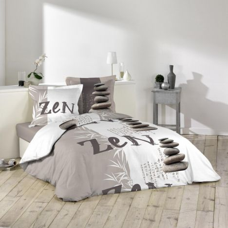 Galets Zen Stones Duvet Cover Set - Natural Multi: King