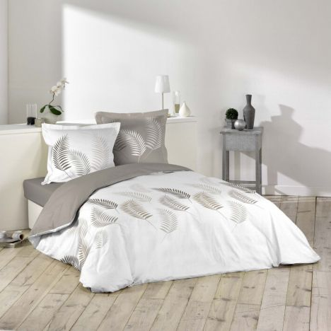 Goyave Feathers Duvet Cover Set - Natural White: Double