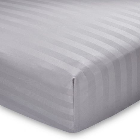 Catherine Lansfield So Soft Stripe Fitted Sheet - Grey