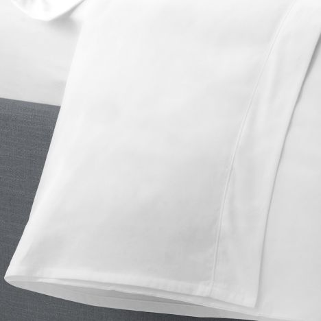 Serene Plain Dye Easy Care Flat Sheet - White
