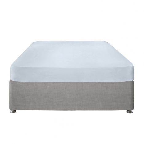 Serene Plain Dye Easy Care Fitted Sheet - Duck Egg Blue
