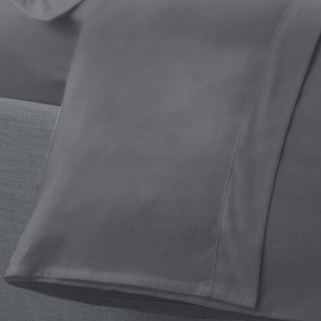 Serene Plain Dye Easy Care Flat Sheet - Charcoal