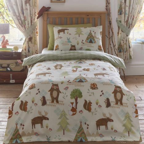 Yellowstone Animals Duvet Cover Set - Multi: Double