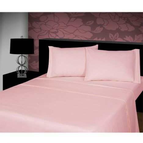 Pair of Flannelette 100% Cotton Pillowcases Pink