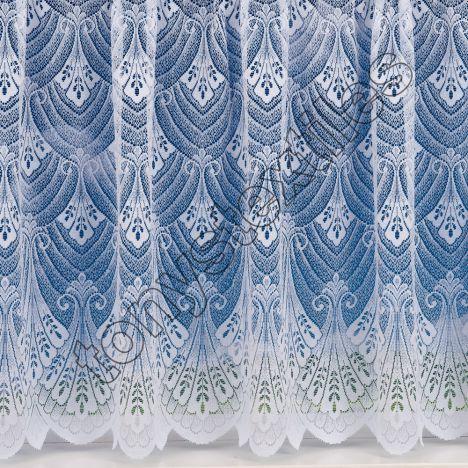 "Rome Heavy White Net Curtain: 36"" Drop"