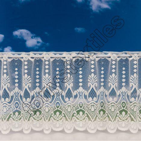 "Kasbah Cafe Net Curtain - Cream: 18"" drop"