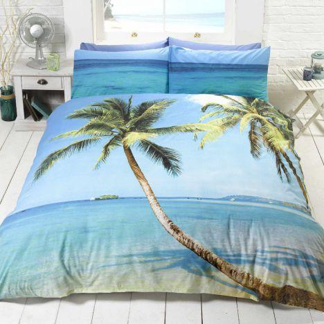 Beach Palm Tree Tropical Island Quilt Cover Tony S