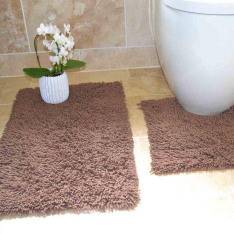 100 Cotton Bath Set Brown Chenille Tonys Textiles