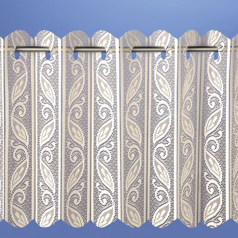 Lace Net Vertical Louvre Blind - Cream