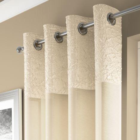 Madeira Cream Curtain Panel Voile Tonys Textiles