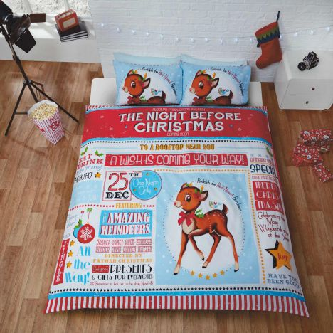 The Night Before Christmas Duvet Cover Set