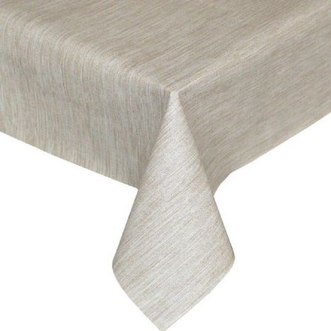 Textured Natural Plastic Tablecloth Wipe Clean Pvc Vinyl
