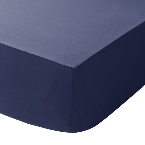 Catherine Lansfield Non Iron Percale Combed Polycotton Fitted Sheet - Navy
