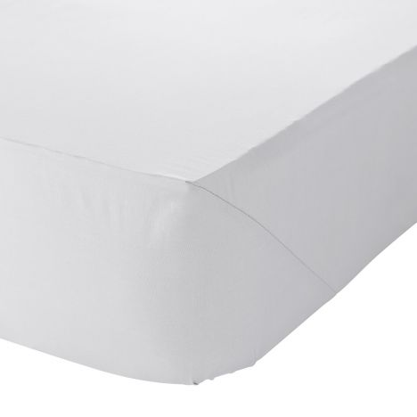 Catherine Lansfield Non Iron Percale Combed Polycotton Fitted Sheet - White
