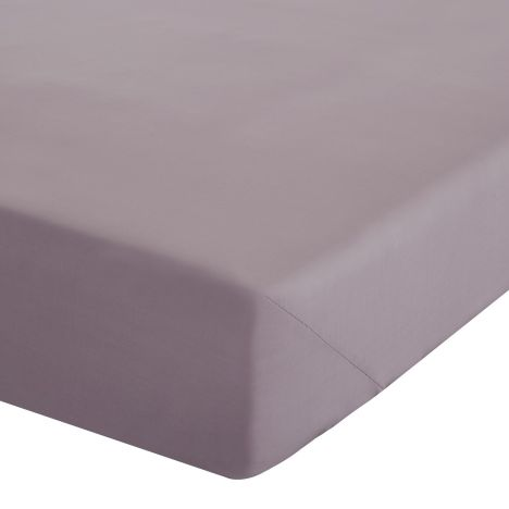 Catherine Lansfield Non Iron Percale Combed Polycotton Fitted Sheet - Heather