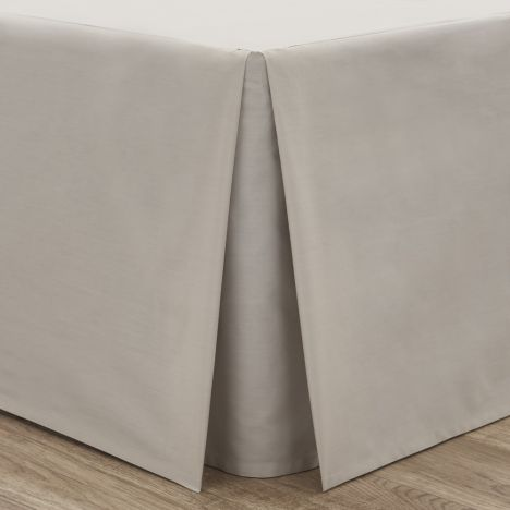 Catherine Lansfield Non Iron Percale Combed Polycotton Box Pleated Base Valance Sheet - Natural
