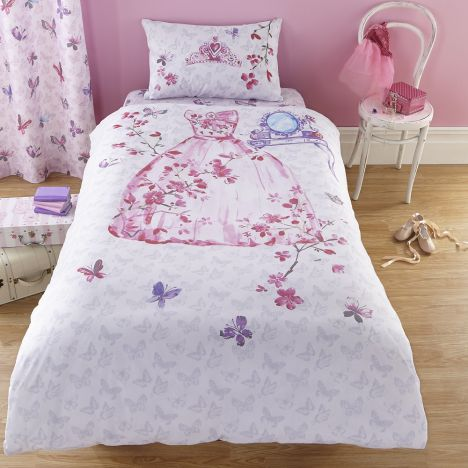 Catherine Lansfield Glamour Princess Cotton Rich Duvet Cover Set