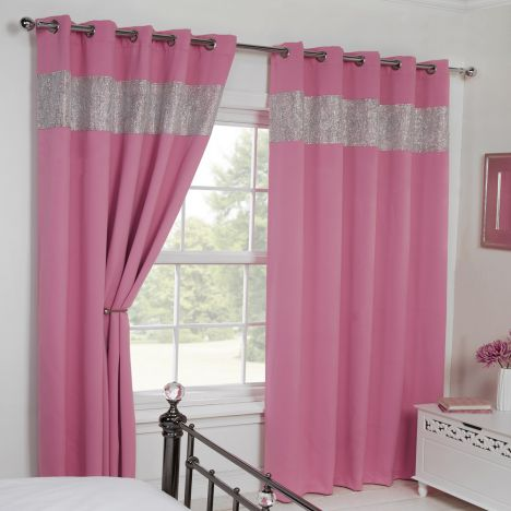 Carla Diamante Eyelet Blackout Curtains Tonys