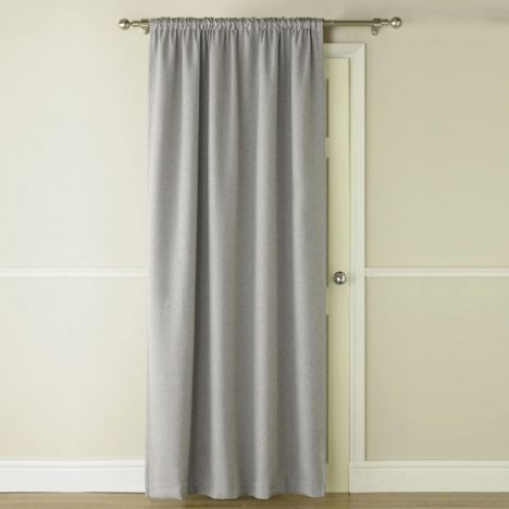 Self Lined Thermal Blackout Linen Look Door Curtain
