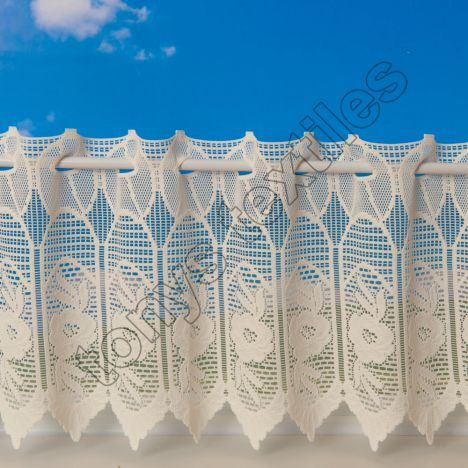 Rose Cafe Net Curtain - Cream
