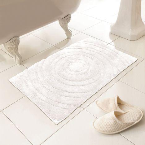 100 Cotton Bath Mat Rug White Tonys Textiles