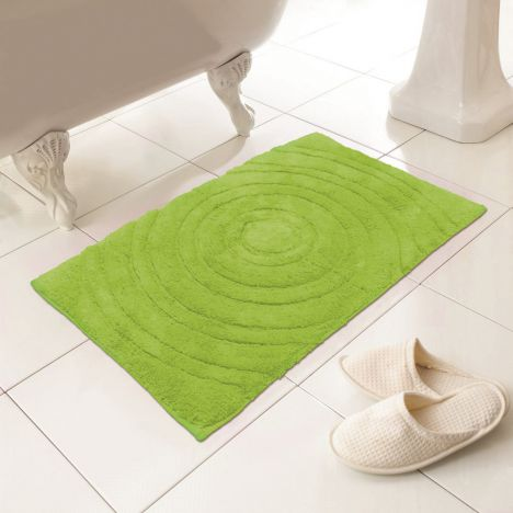 100 Cotton Bath Mat Rug Lime Green Tonys Textiles