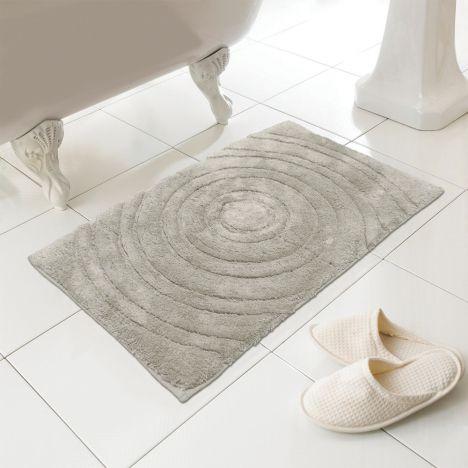 100 Cotton Bath Mat Rug Taupe Natural Tonys Textiles