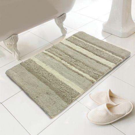 100% cotton bath mat | rug | silver | grey | tonys textiles