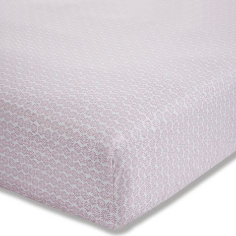 Kids Bianca 100% Cotton Soft Ditsy Fitted Sheet - Blush Pink
