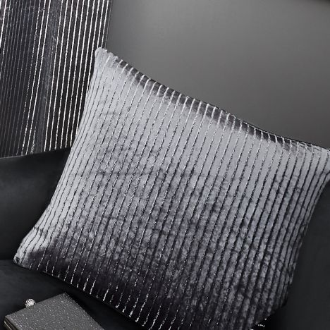 Velvet Sparkle Cushion Cover - Silver Grey