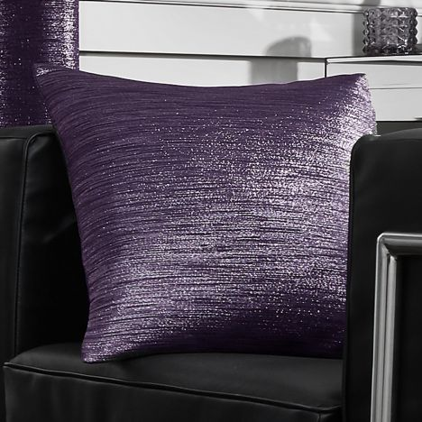 Glitter Glamour Cushion Cover - Purple