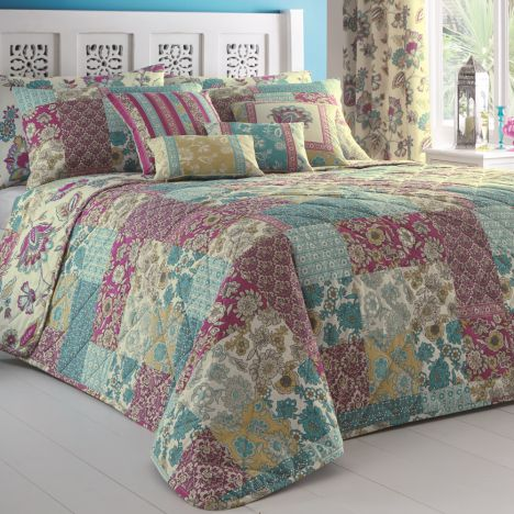 Marinelli Floral Reversible Bedspread - Multi