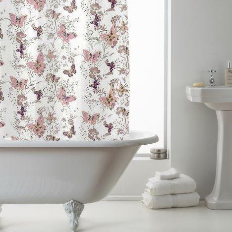 Luxury Butterfly PEVA Shower Curtain