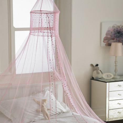 Popsicle Glitter Sequin Canopy Net - Pink