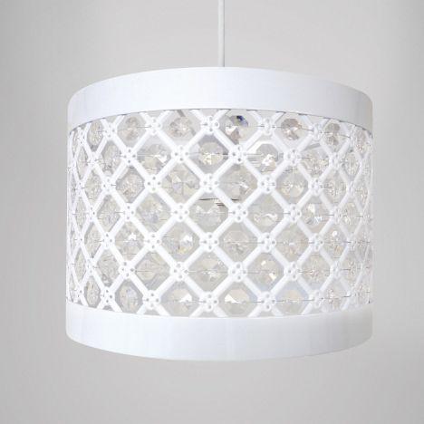 Moda sparkle pendant light shade fitting white tonys textiles moda sparkle pendant light shade fitting white aloadofball Image collections