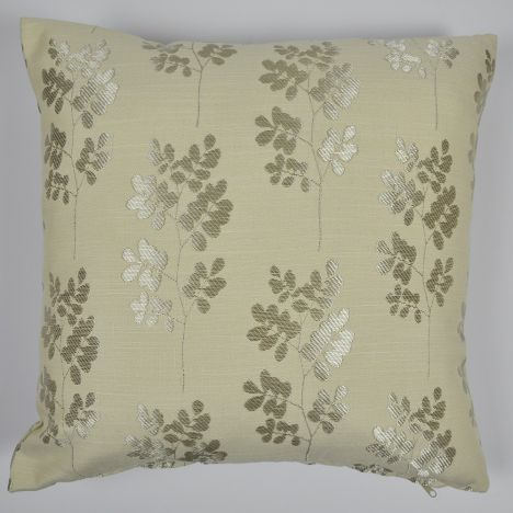 Shadow Leaf Floral Cushion Cover - Grey