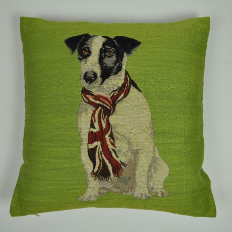 Ray Dog Print Cushion Cover - Green