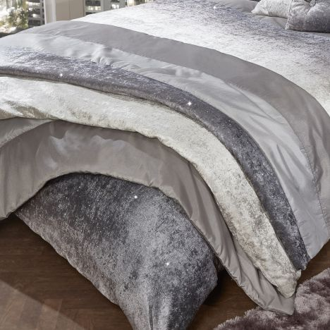 Glitter Crushed Velvet Mink Bedspread Tonys Textiles
