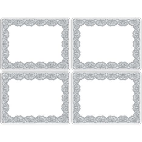 Catherine Lansfield Glamour Lace Large Placemats Set of Four