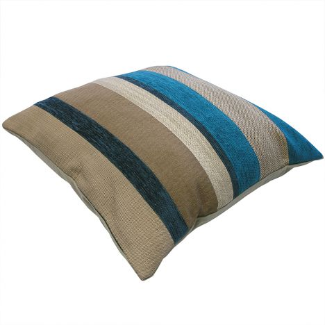 Aspen Chenielle Stripe Cushion Cover - Teal Blue